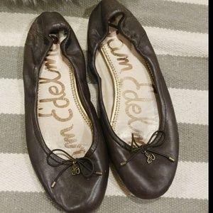 Sam Edelman Brown Leather Flats